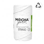 Pređa, Macrame String 4 mm, 24315-1, bijela