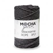 Pređa, Macrame Rope 4 mm, 24316-7, tamnosiva