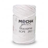 Pređa, Macrame Rope 2 mm, 24317-1, bijela