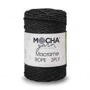 Pređa, Macrame Rope 2 mm, 24317-2, crna