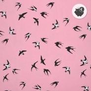 Prevešanka, kosmatena, tisk, 25202-1, roza