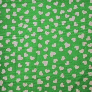 Cotton, poplin, hearts, 12465-01, green