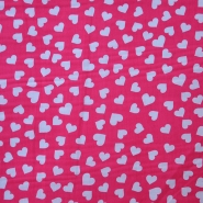 Cotton, poplin, hearts, 12465-02, pink