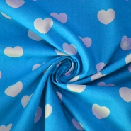 Cotton, poplin, hearts, 10036-304
