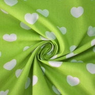 Cotton, poplin, hearts, 10036-323