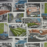 Deco, print, retro cars, 12624-01