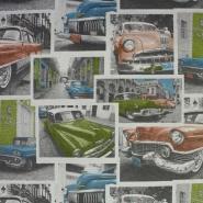 Dekostoff, Druck, Retro-Cars, 12624-01