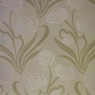 Deco jacquard, flowers, beige, 12705-4811