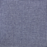 Cotton, twill, pepita, 13029-01, dark blue - Bema Fabrics