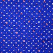 Bombaž, poplin, zvezde, 13115-001