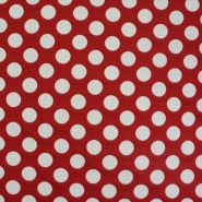 Deco jacquard, big red dots, 13181-101