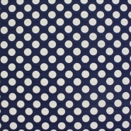 Deco jacquard, big blue dots, 13181-059 - Bema Fabrics