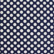 Dekostoff, schwer, große Punkte, blau, 13181-059
