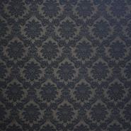 Deko žakard, barok, 13204-08, črna