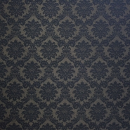 Deko žakard, barok motiv crn, 13204-08