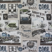 Deco jacquard, retro cars, 13314-01