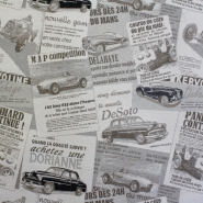 Deco jacquard, retro cars, 13360-714